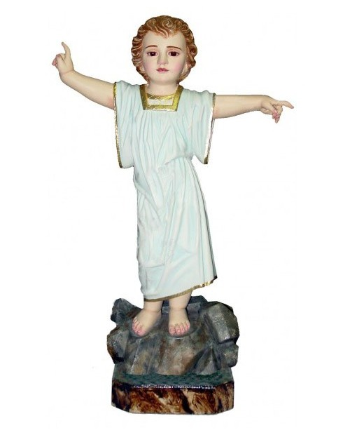 Estatua de madera do niño Jesús