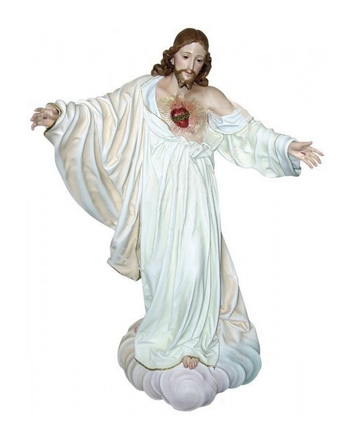 Wooden statue of Sacred Heart of Jesus