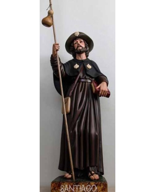 Estatua de madera de Santiago