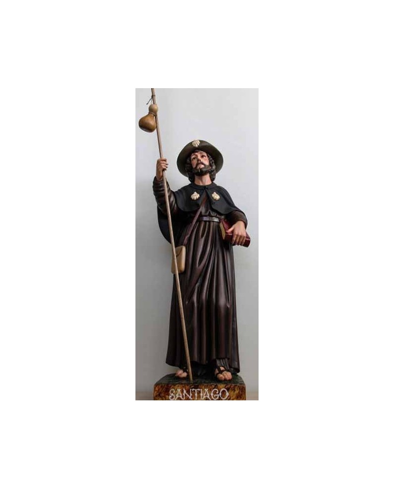 Wooden statue St James