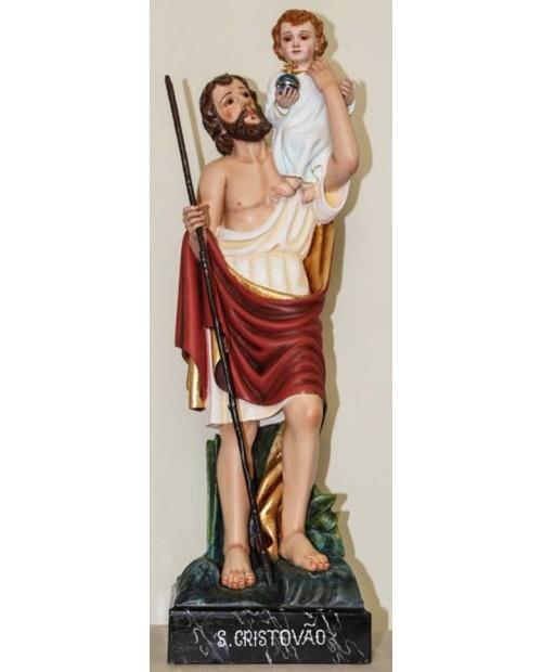 Statue en bois du St Christopher