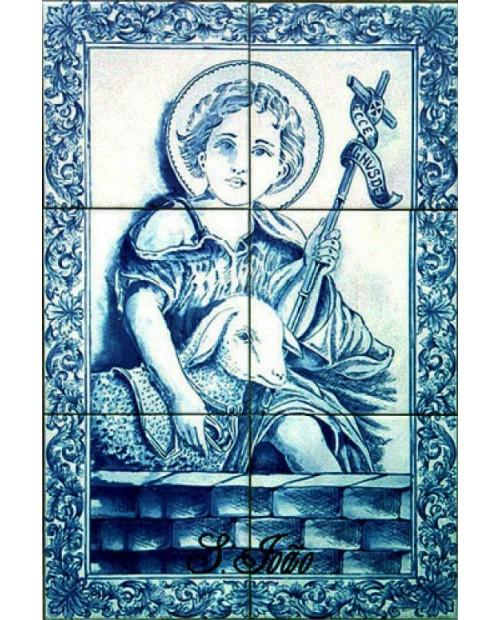 Azulejos con la imagen de San Juan