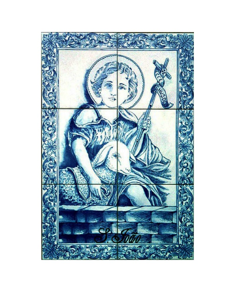 Tiles with image of St. John