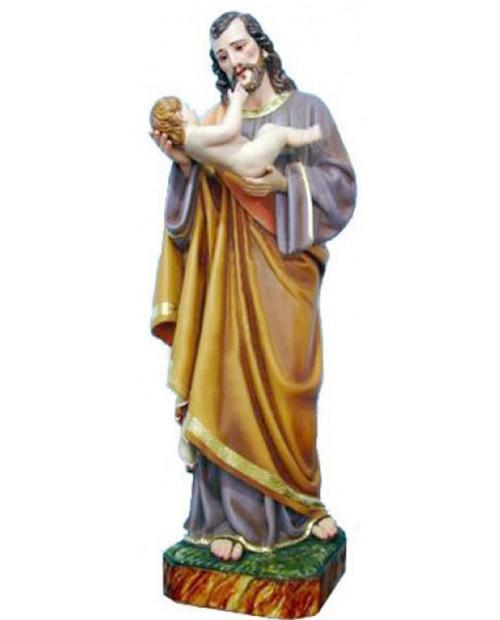 Statua in legno de San Giuseppe con Gesù bambino