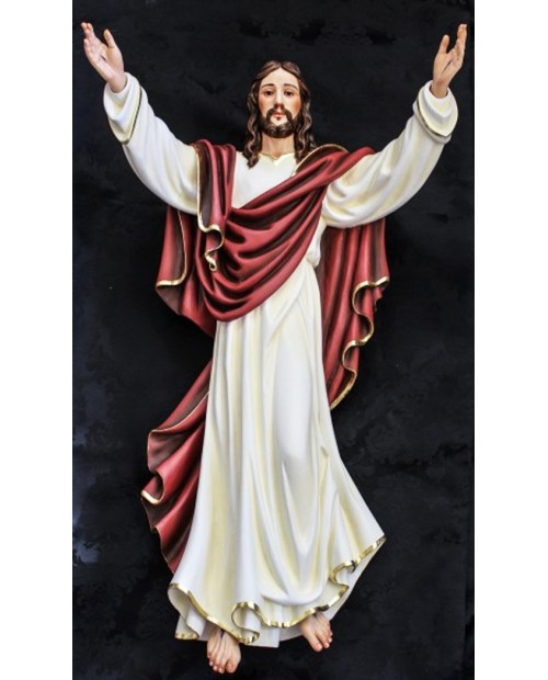 Statua in legno de Gesù Cristo risorto
