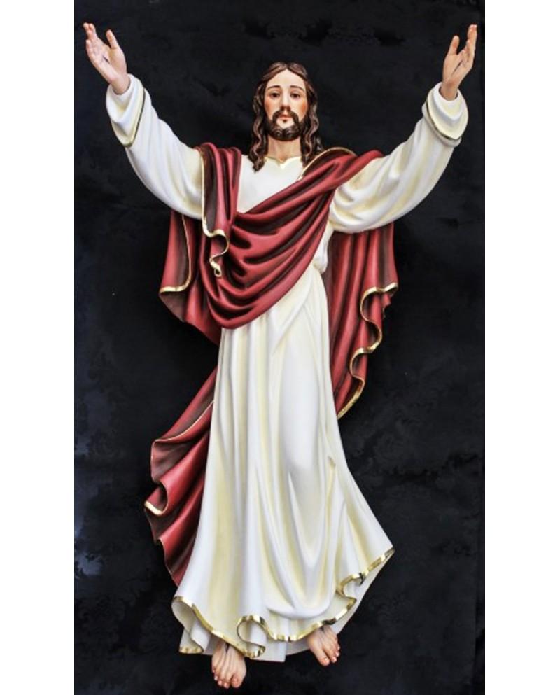 Imagem de madeira de Jesus Cristo Ressuscitado