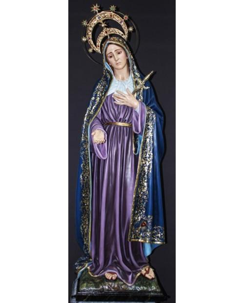 Imagem de madeira de Nossa Senhora das Dores