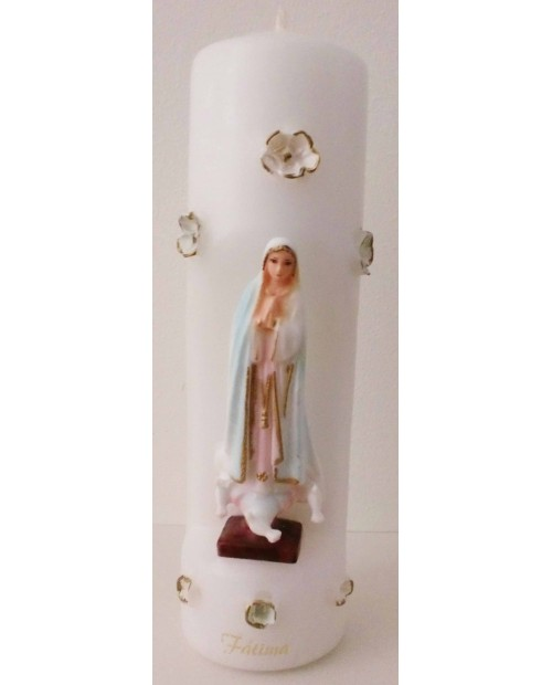 Candles with image of Our Lady