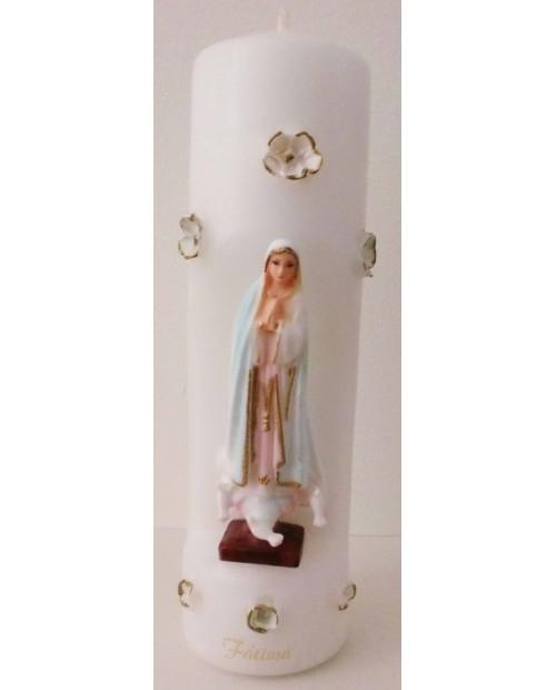 Velas con imagen de Nuestra Señora