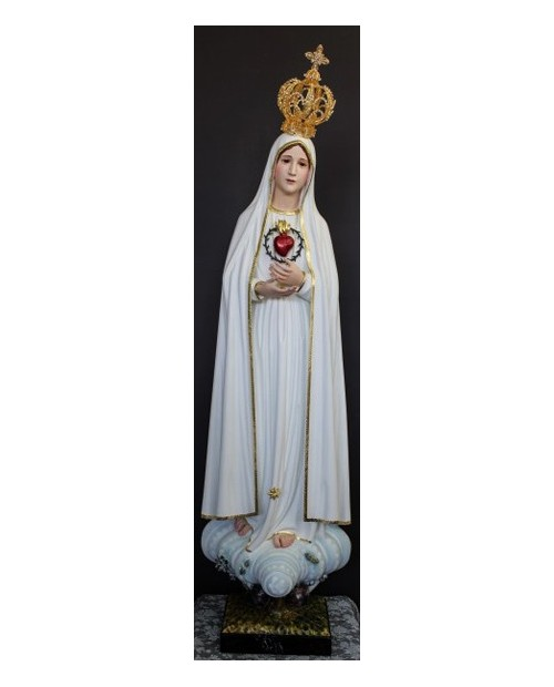 Wooden statue of the Sacred Heart of Mary
