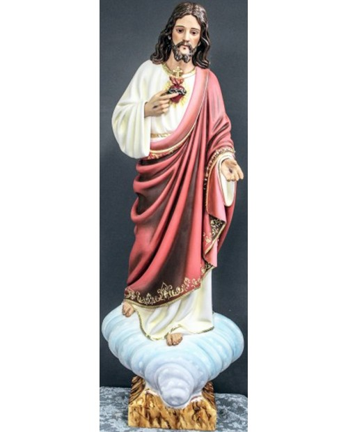 Wooden statue of the Sacred Heart of Jesus