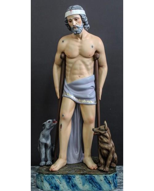 Statue en bois de Saint-Lazare