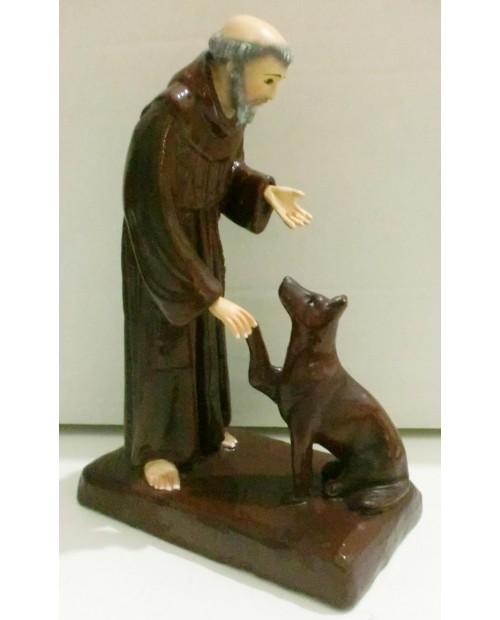 Estátua de madeira de São José com menino Jesus