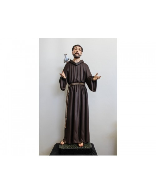 Wooden statue of Saint Francis
