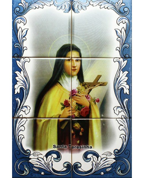 Tiles with the image of St. Therese