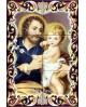 Piastrelle con immagine di San Giuseppe