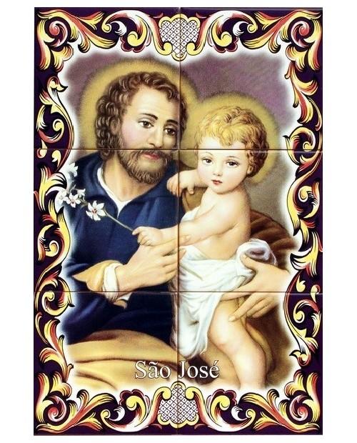 Carreaux avec l'image de Saint-Joseph