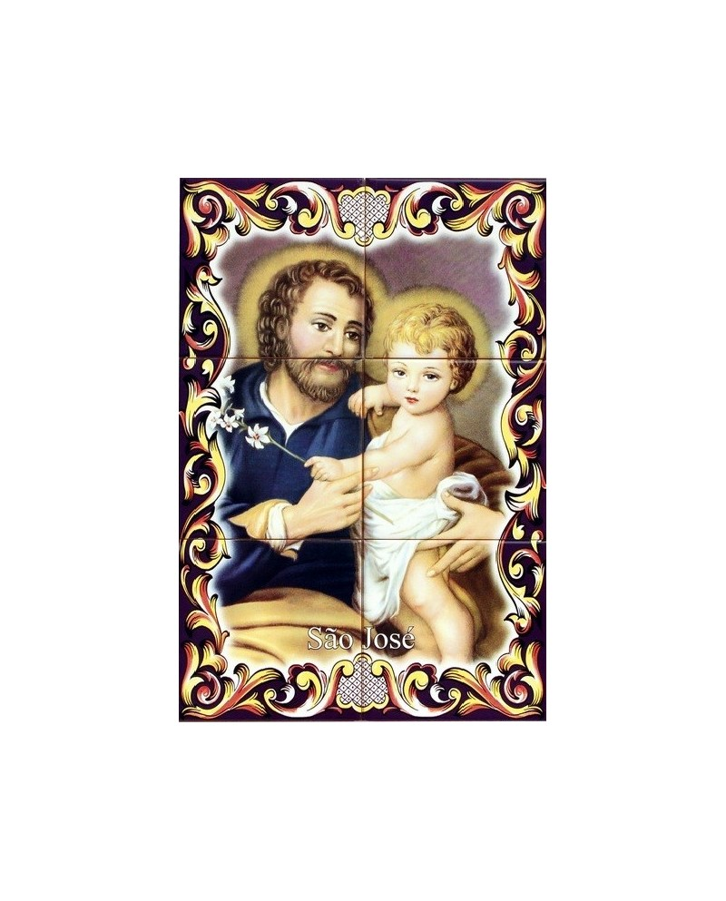 Tiles with image of St. Joseph