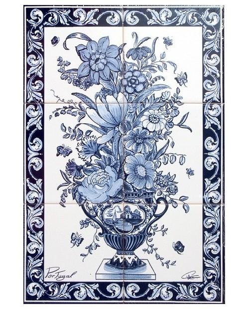 Carreaux avec l'image de Vase de fleurs
