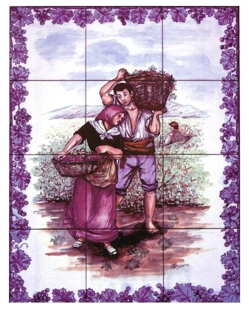 Azulejos com imagem da Fuga