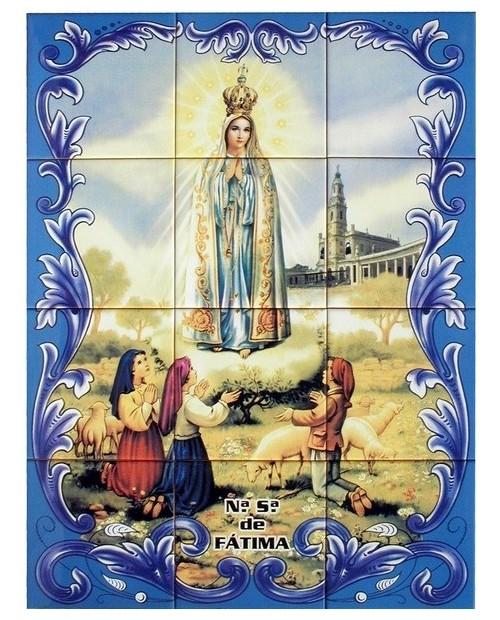 Azulejos com imagem de Nossa Senhora de Fátima