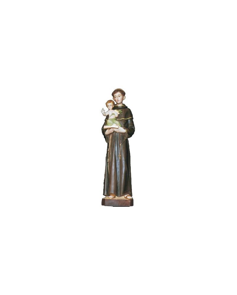 Statue peinte de Saint-Antoine