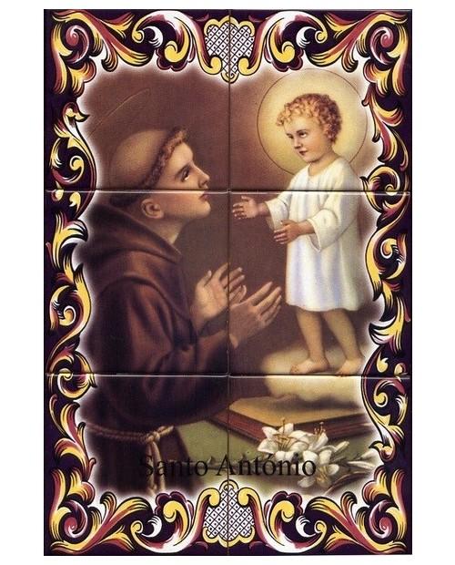 Azulejos con la imagen de Sto. Antonio
