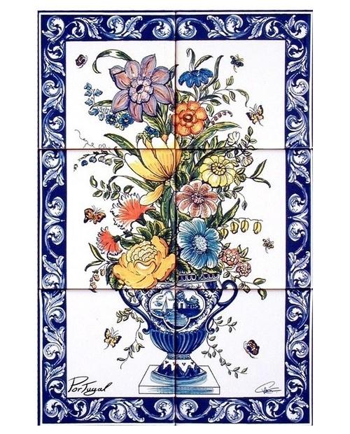 Piastrelle con immagine di Vaso di fiori