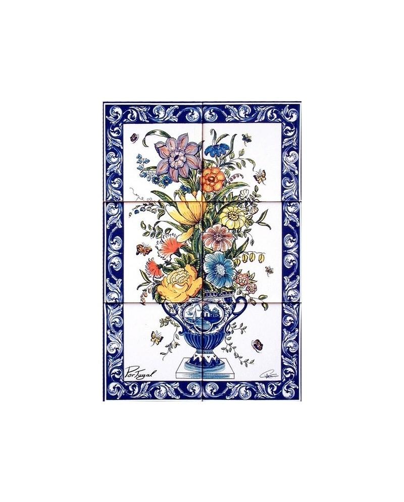 Azulejos con imagen de jarr n con flores store online f tima - Azulejos con flores ...