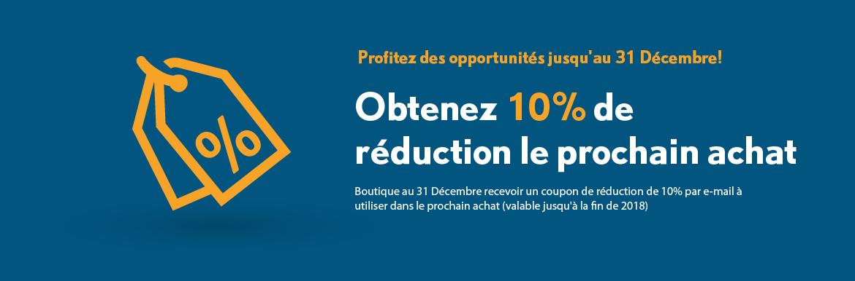 Obtenez 10% de réduction le prochain achat